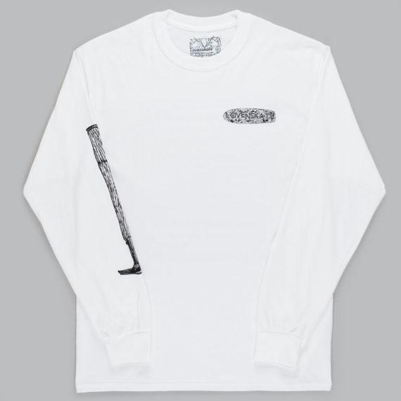 Lovenskate Beat Them To Death Long Sleeve T-Shirt White