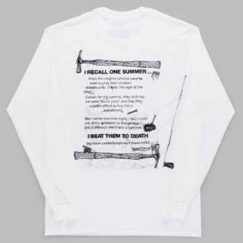Lovenskate Beat Them To Death Long Sleeve T-Shirt White