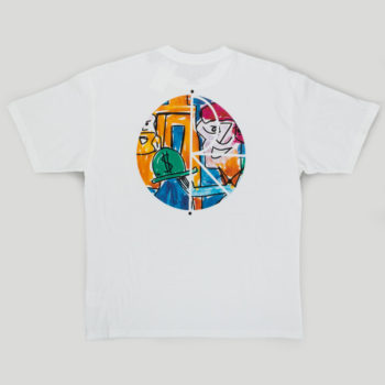 Polar Skateboards Stenstrom Fill Logo T-Shirt White