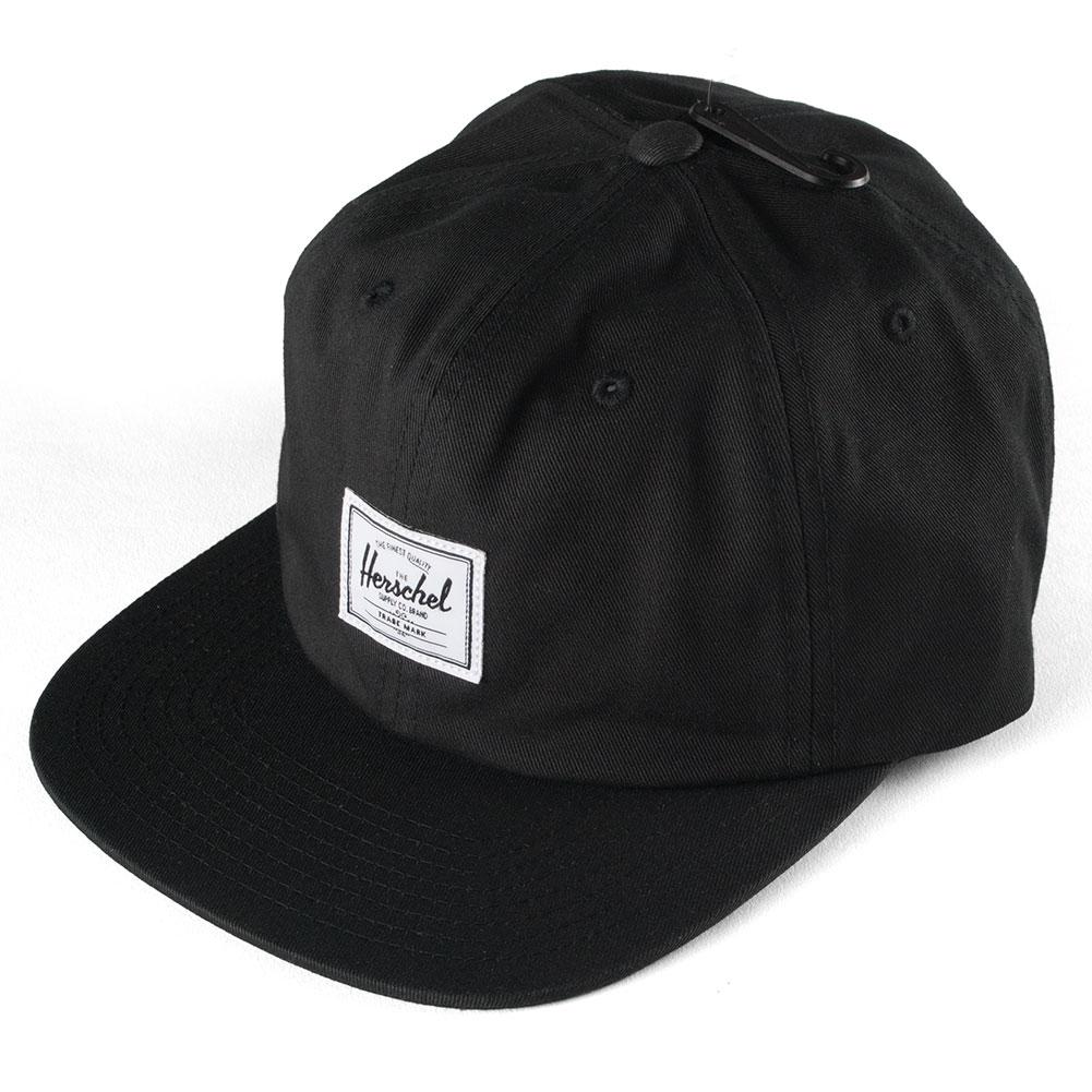 6ade03c968d9 Buy the Herschel Albert Cap Black Available at Skate Pharm