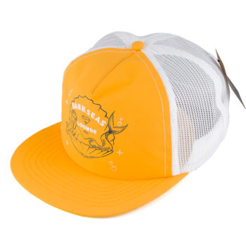 Dark Seas Shanghai'd Trucker Hat Gold White