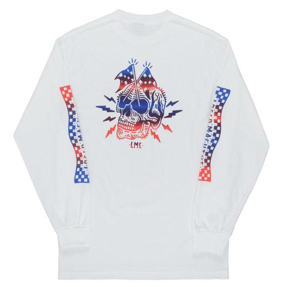 Loser Machine Burnout Long Sleeve T-Shirt White