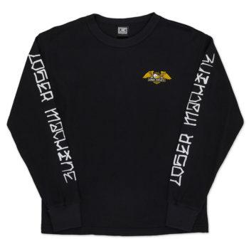 Loser Machine Alleyway Long Sleeve Thermal T-Shirt Black