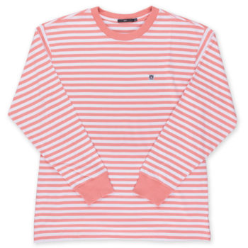 Obey Eighty Nine Icon Box T-Shirt Long Sleeve Coral