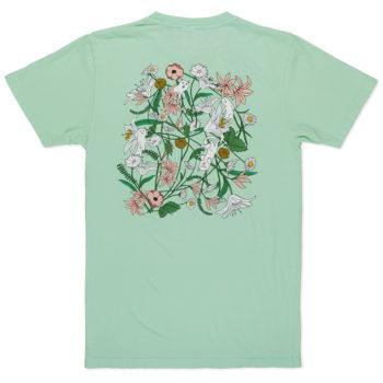 Rip'N'Dip Nerm Flowers Pocket T-Shirt Sage