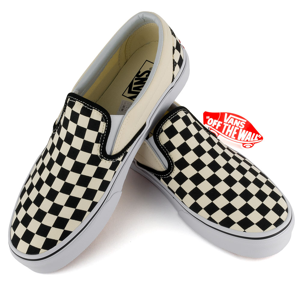 Vans Checkerboard Slip On Shoe White Black