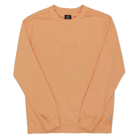 Volcom Case Crew Sweatshirt Orange