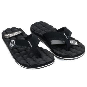 Volcom Recliner Sandals Flip Flops Black