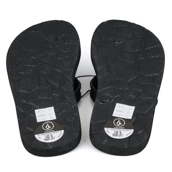 Volcom Rocker 2 Flip Flops Black White