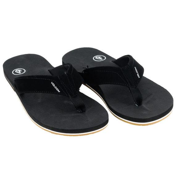 Volcom Victor Sandals Flip Flops Black