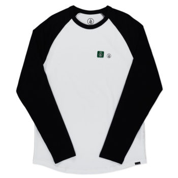 Volcom Pen Basic Long Sleeve T-Shirt White Black