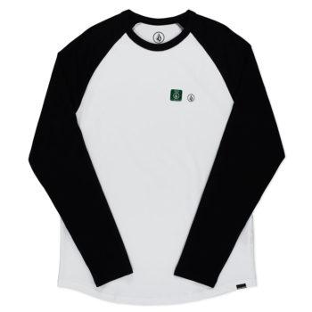 Volcom Pen Basic Long Sleeve T-Shirt White Black