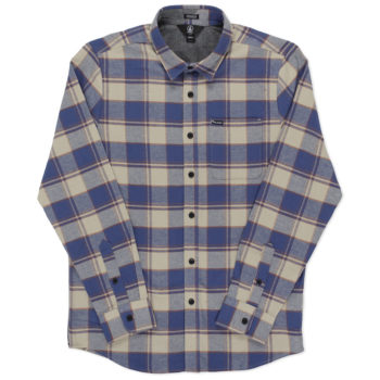 Volcom Caden Long Sleeve Shirt Blue