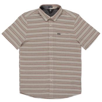 Volcom Sable Short Sleeve Shirt Brown