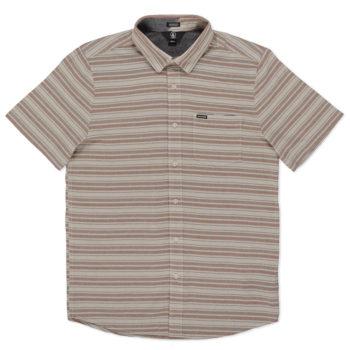 Volcom Sable Short Sleeve Shirt Brown