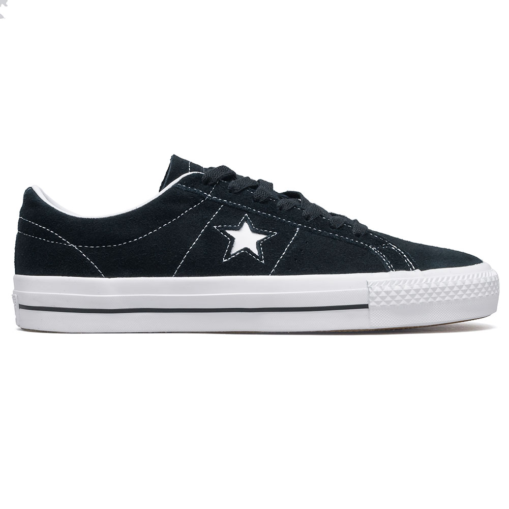 f41f0e06885332 Home   Shop   Footwear   Skate Shoes   Low Tops   Converse One Star Pro OX  Shoes Black White