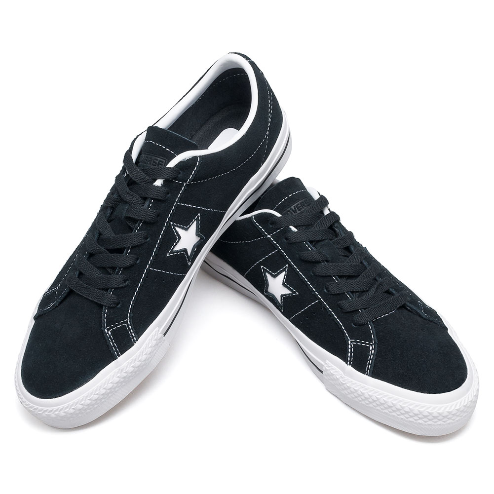 7f11b5fb892d Converse One Star Pro OX Shoes Black White at Skate Pharm