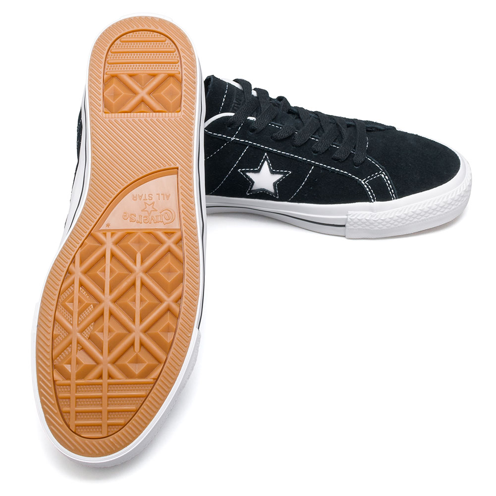 04d2a83420a Converse One Star Pro OX Shoes Black White at Skate Pharm