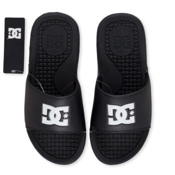 D.C. Bolsa Slider Sandals Black White