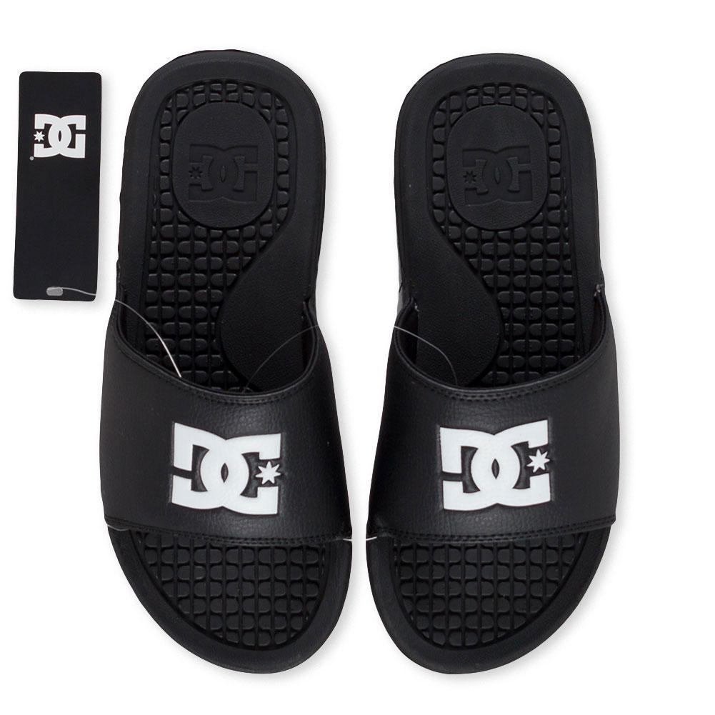 2a701cef417520 Home   Shop   Footwear   Flip Flops   D.C. Bolsa Slider Sandals Black White