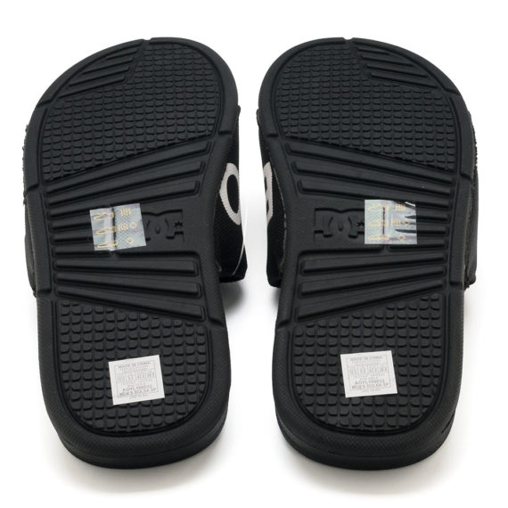 D.C. Bolsa SP Slider Sandals Black White