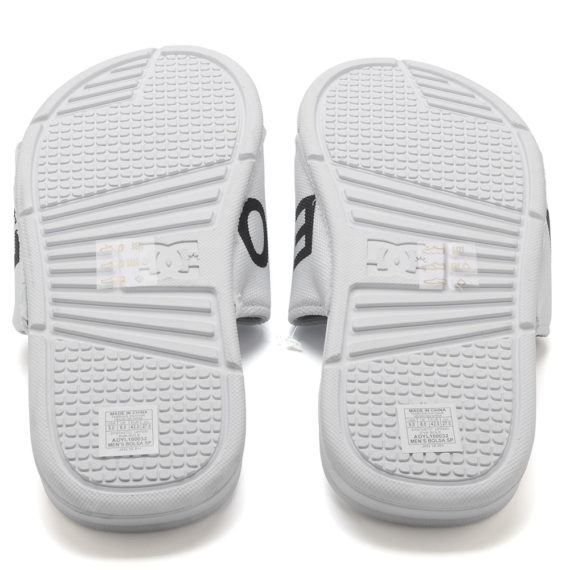D.C. Bolsa SP Slider Sandals White Black