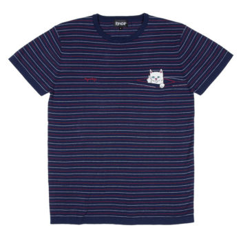 Rip'N'Dip Peeking Nermal Knit T-Shirt Navy Red