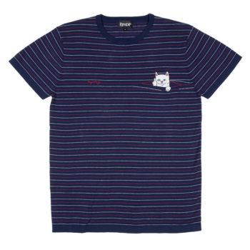 Rip'N'Dip Peeking Nermal Knit T-Shirt Navy Red