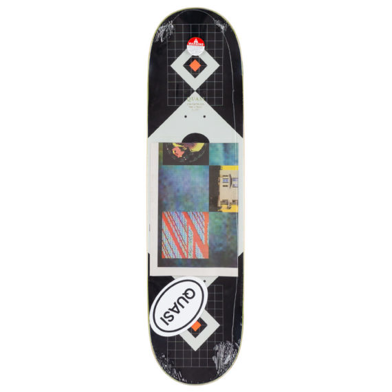 Quasi Skateboards Perp Deck 8.375″ Black