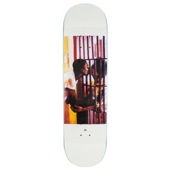 "Quasi Skateboards Al Davis Bars Deck 8.25"" White"
