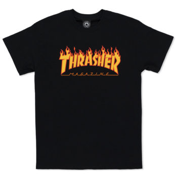 Thrasher T-Shirt Flame Black