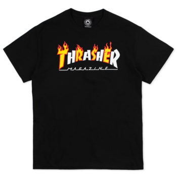 Thrasher Magazine Flame Mag T-Shirt Black