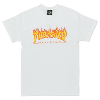 Thrasher Magazine Flame Logo T-Shirt White