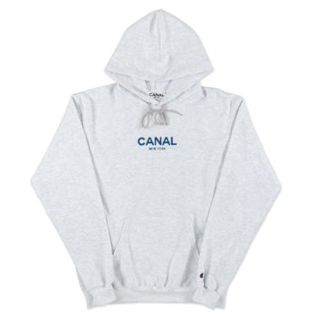 Canal Champion Reverse Weave Hoodie Grey