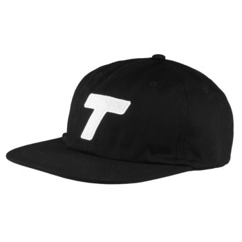 Theobalds Cap Co Classic T Six Panel Black White Front