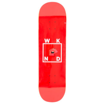 "WKND Skateboards Lips Deck 8.5"" Red"