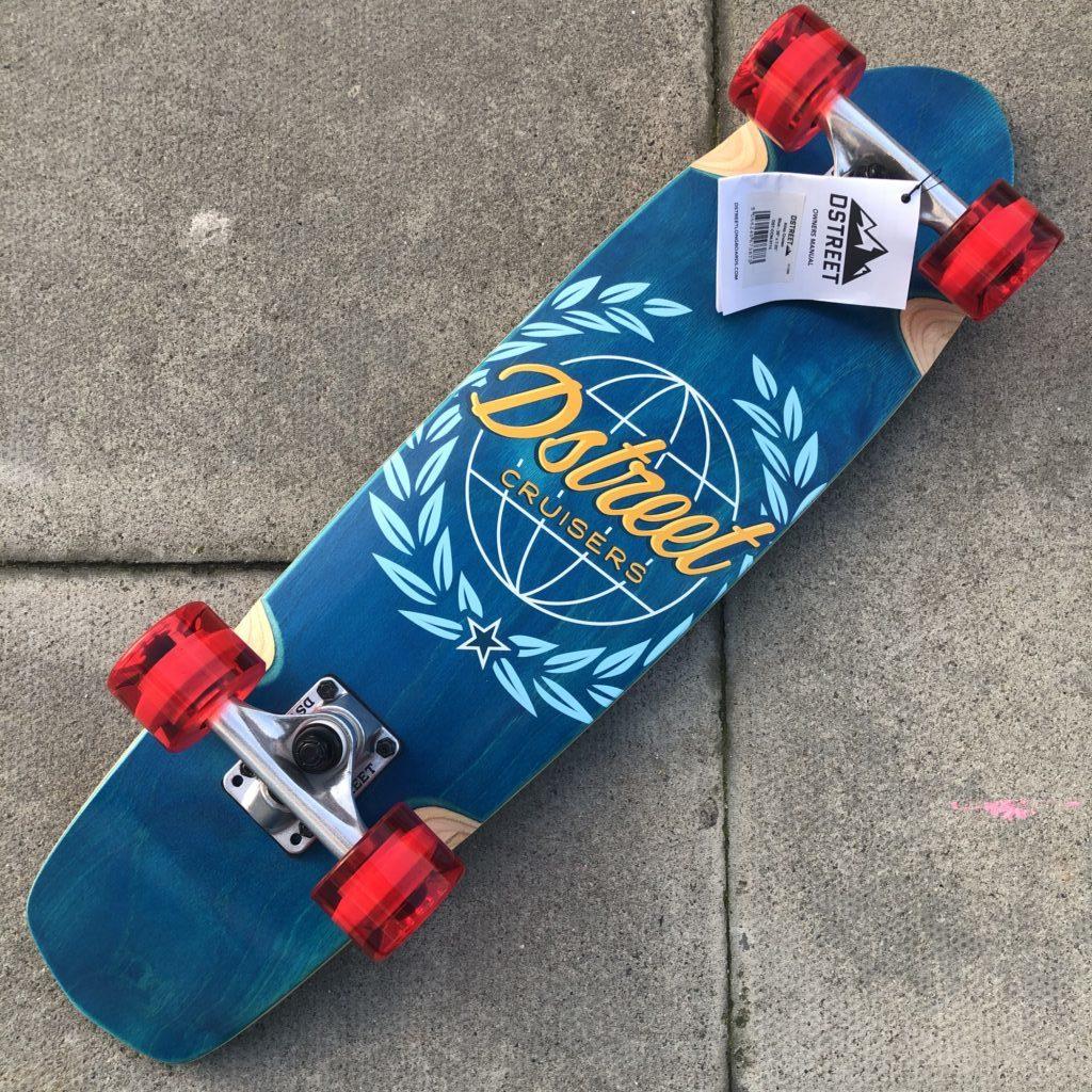 DSTREET Cruiser Atlas Skateboard Erwachsene Unisex